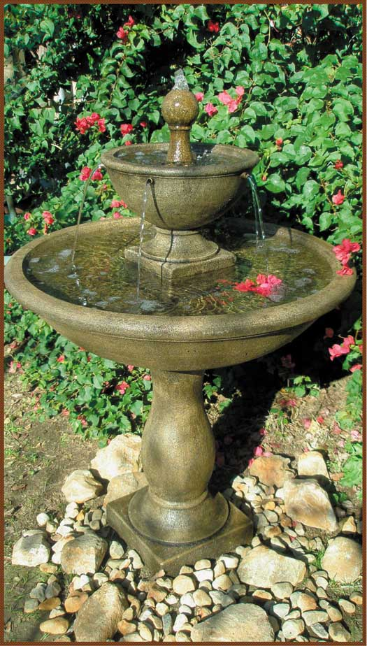2051 f phoenix fountain rw statuary for Garden fountains phoenix